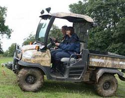 Kubota ATV Blind and reverse steer